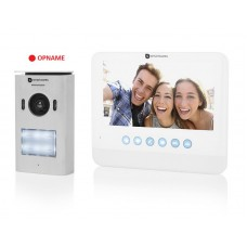Video door intercom with pan/tilt camera