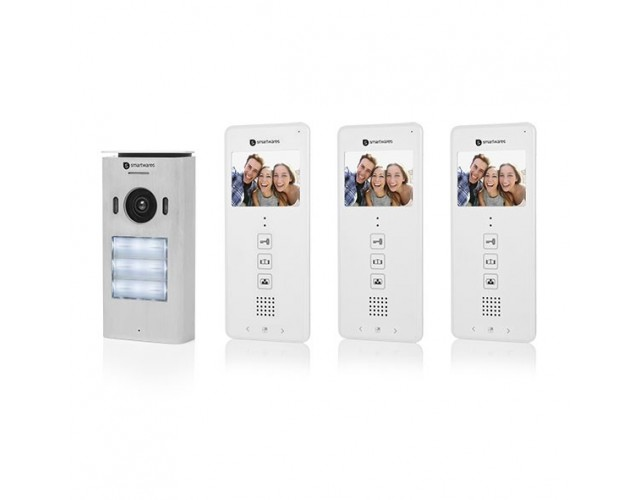 Video door intercom with inch color screen image