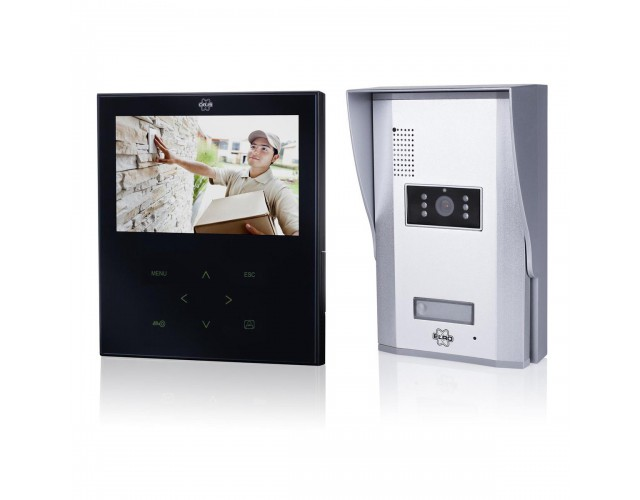 Video door intercom with 7 inch color screen image